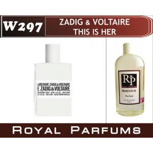 «This is Her» от Zadig & Voltaire. Духи на разлив Royal Parfums 200 мл